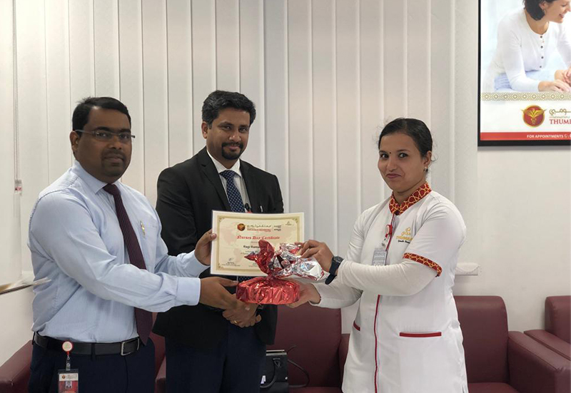 Thumbay Hospital Day Care Rolla Sharjah Celebrates International Nurses Day 2019