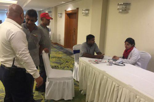 Thumbay Hospital Ajman Conducts Free Health Camp at Coral Beach Resort