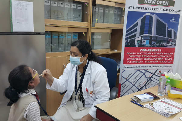 Thumbay Hospital Day Care conducted a Dental Check up for the students of GEMS Millennium School Sharjah