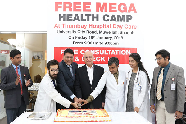 Free Mega Health Camp Organized by Thumbay Hospital Day Care Draws Hundreds of Visitors