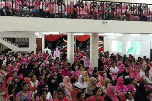Thumbay Hospital Day Care, University City Road Muweilah-Sharjah Conducts Breast Cancer Awareness Session for the teachers and for the parents at India International School Sharjah