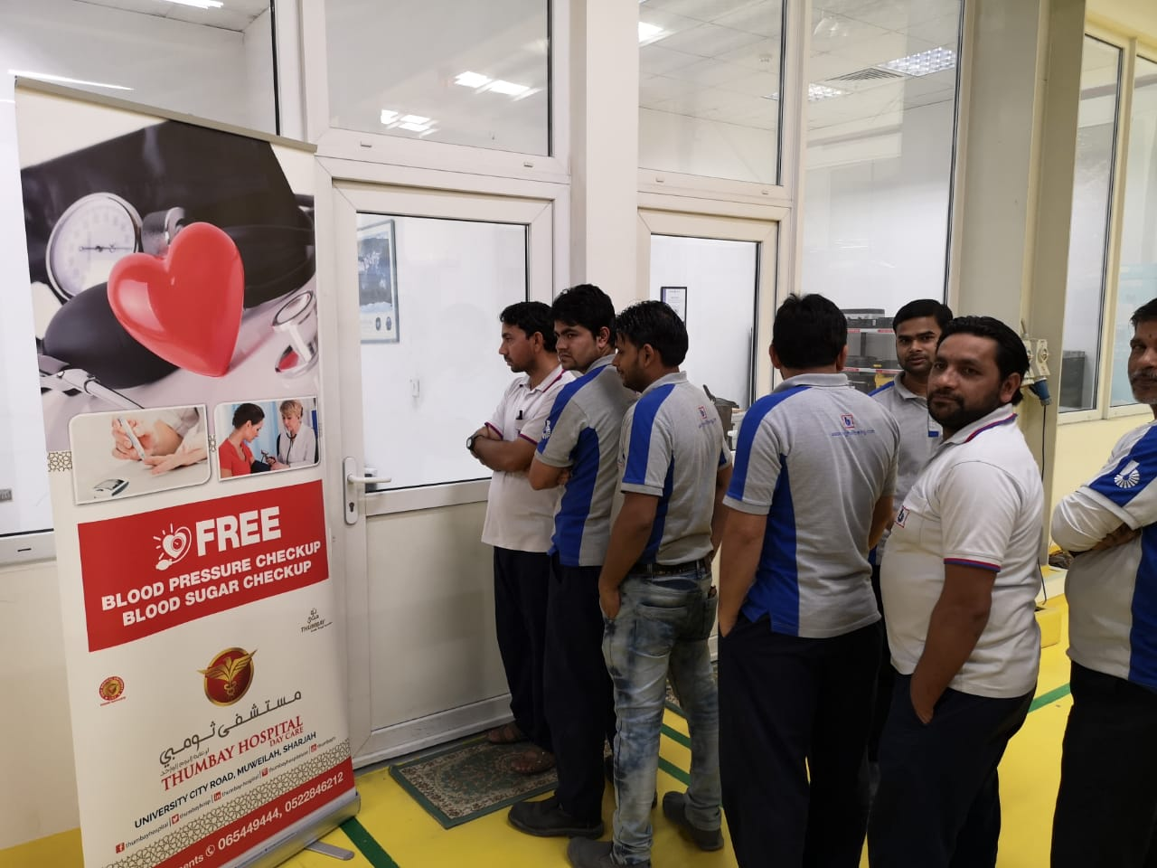 Thumbay Hospital Day Care, Muweilah-Sharjah Conducts Free Health Camp at Bin Ghalib Engineering Sharjah