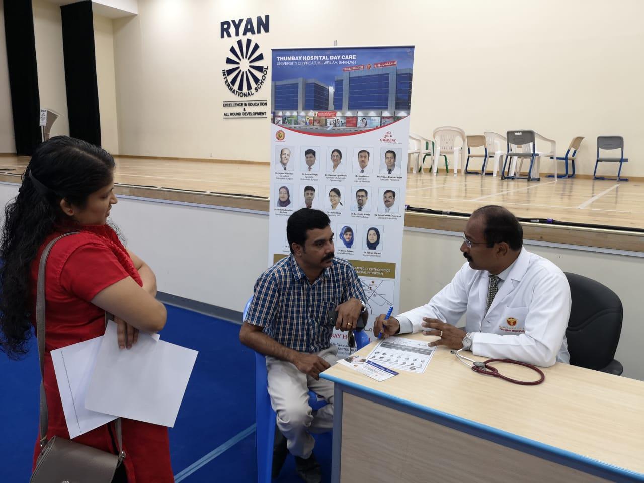 Thumbay Hospital Day Care, Muweilah-Sharjah Conducts Free Health Camp at Ryan International School Sharjah