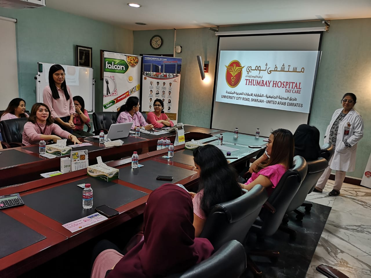 Thumbay Hospital Day Care, University City Road Muwailah-Sharjah Organized Breast Cancer Awareness Event in Falcon Pack Sharjah