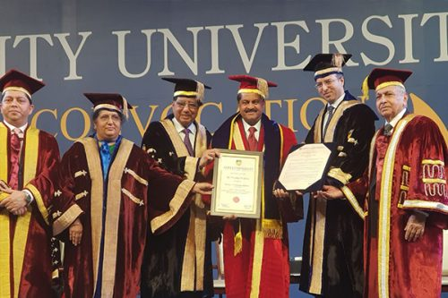 Thumbay Moideen Conferred Honorary Doctorate at Amity University Dubai's Annual Convocation