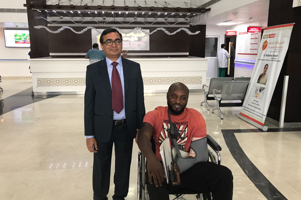 Nigerian Patient with Severe Fracture Recovers after Emergency Surgery at Thumbay Hospital Hyderabad