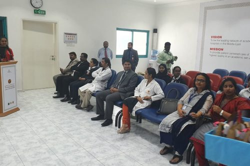 Warm Gesture and wonderful contribution from St. Mary's Catholic High School Fujairah to Thumbay Hospital Fujairah on the occasion of Labors Day 2019, May 01.