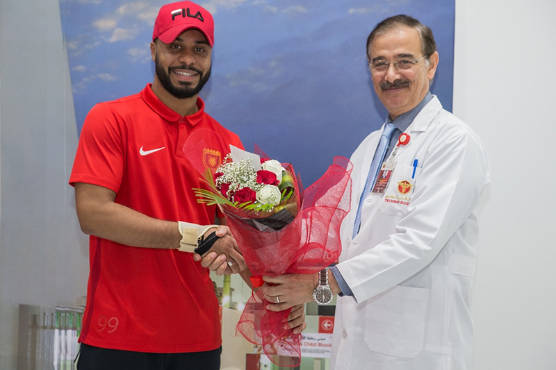 "Warm Gesture and wonderful contribution from Fujairah Football Stadium to Thumbay Hospital Fujairah Patients admitted in hospital as part of CSR activity giving messages to our patients ""GET WELL SOON"" on Tuesday, 30th April 2019."