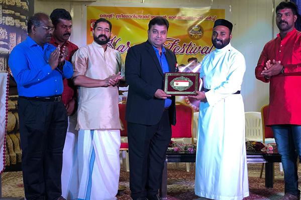 مستشفر ثومبي يشارك في جملة تعزيز الوعي في مهرجان الحصاد السنوى الذى نظمته كنيسة القديس جريجوريوس الهندية الأرثوذكسية