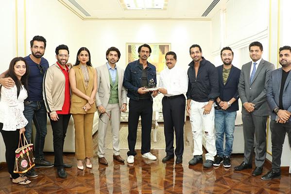 Bollywood Stars Arjun Rampal, Sonu Sood, Luv Sinha, Siddhanth Kapoor, Harshvardhan Rane, Gurmeet Choudhary, Sonal Chauhan Visit Thumbay Medicity Ajman