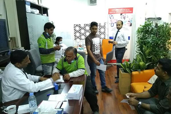 Thumbay Medical & Dental Specialty Centre Sharjah Organized Health Checkup & Dental Screening Camp At Al Mazen Furniture Co. Ltd, Sharjah