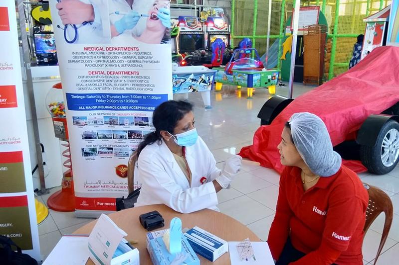 Thumbay Medical & Dental Specialty Centre Sharjah Organizes Dental Screening & Health Checkup Camp At Hyper Ramez Sharjah