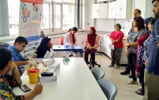 Thumbay Medical & Dental Specialty Centre Sharjah Organizes Ophthalmology Screening & Health Checkup Camp at Manzil Centre Sharjah