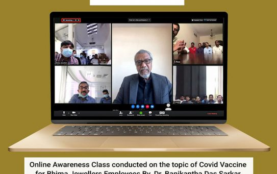 Online Awareness Class Conducted on the topic of Covid Vaccine for Bhima Jewellers